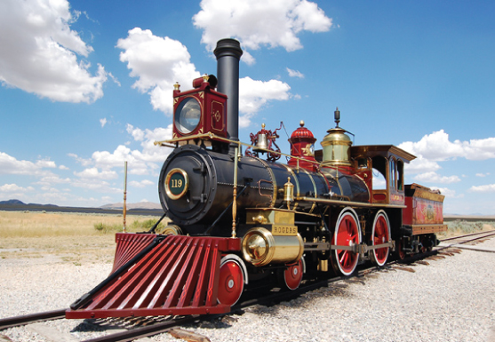 Train at Golden Spike National Monument