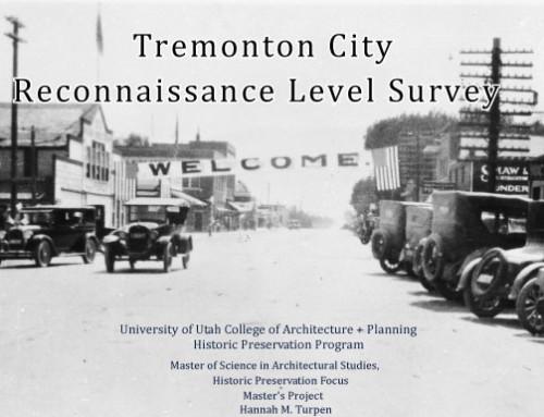 Tremonton City Reconnaissance Level Survey